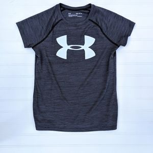 Under Armor Gray Logo Tech Shirt